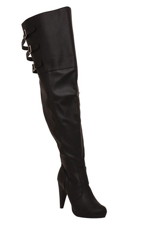 Wide Thigh High Boots - Cr Boot