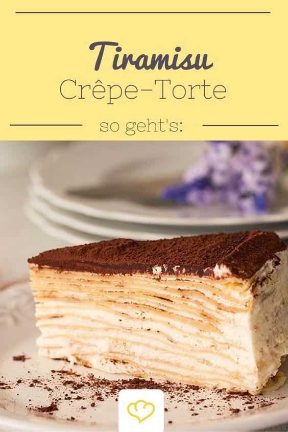 Zarte französische Crêpes treffen auf vollmundiges italienisches Tiramisu. Kein Wunder, dass dabei eine süße Versuchung entsteht: die Tiramisu-Crêpe-Torte!