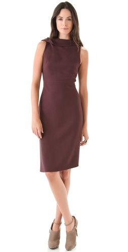 Rachel Roy drape neck dress - in Soil