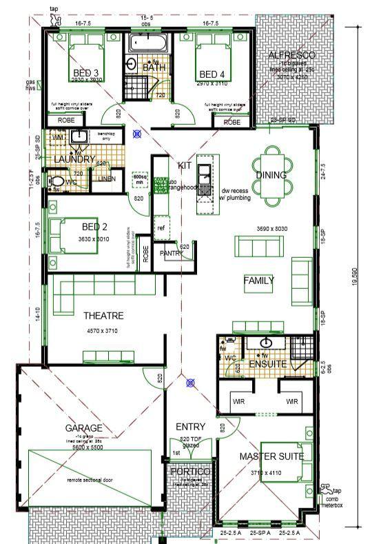 The Rosanna New 4 Bedroom Homes Mandurah Perth Wa House Plans New House Plans 4 Bedroom House Plans