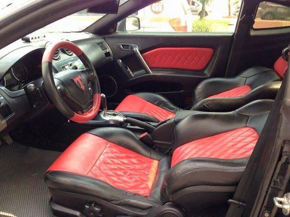 Hyundai Tuscani Tiburon Red And Black Interior Seats Door Panels Diamond Stitch Hyundai Tiburon Hyundai Black Interior