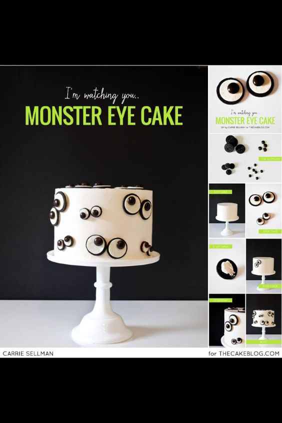 Googly Monster Eyes cake! So fun! From thecakeblog.com