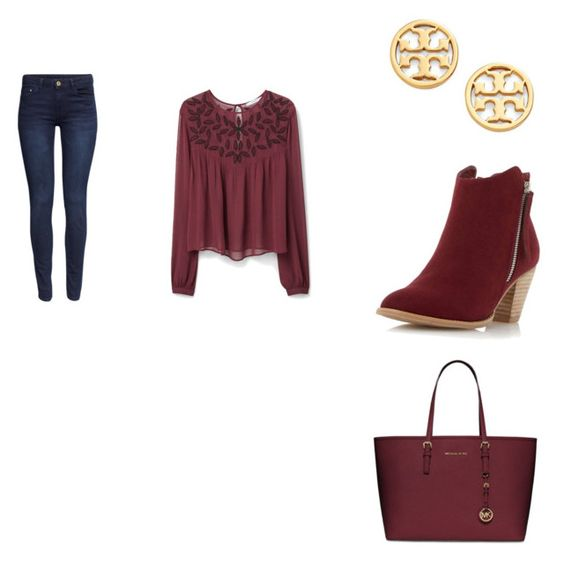 """""""Untitled #12"""" by lulabonner on Polyvore featuring MANGO, H&M, Dorothy Perkins, MICHAEL Michael Kors, Tory Burch, women's clothing, women, female, woman and misses"""