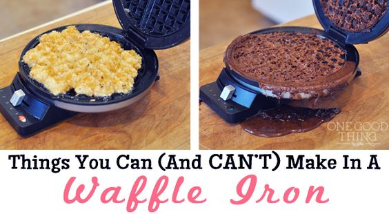 Things You Can { And CAN'T } Make In A Waffle Iron!
