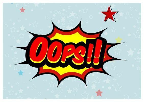 Oops!! | Sorry | Echte Postkarten online versenden | MyPostcard.com