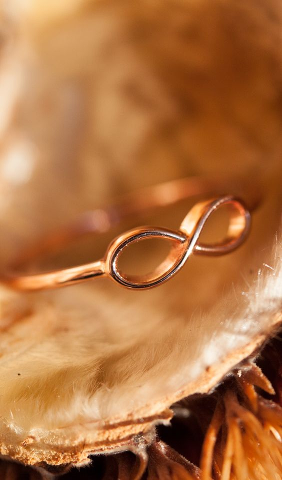 rose gold plated #infinity #ring I designed for NEW ONE I NEWONE-SHOP.COM