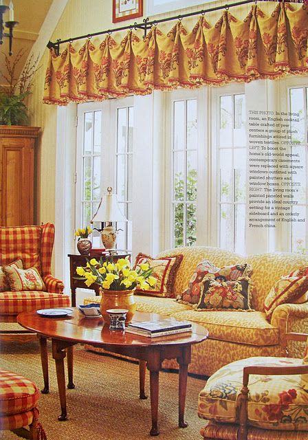 Provence Style Window And Fabrics On Pinterest