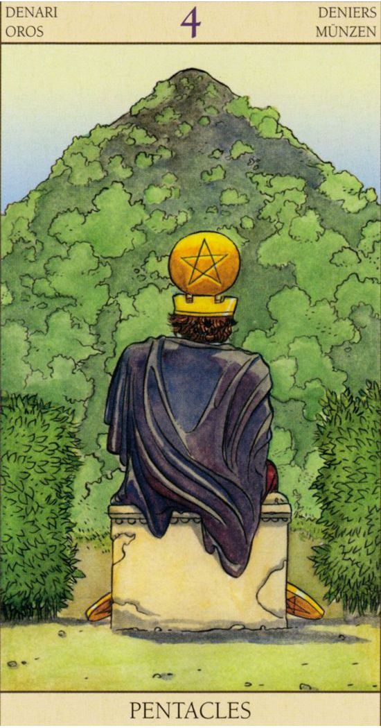 Four of Pentacles - Tarot of The New Vision (Gianluca Cestaro & Pietro Alligo)