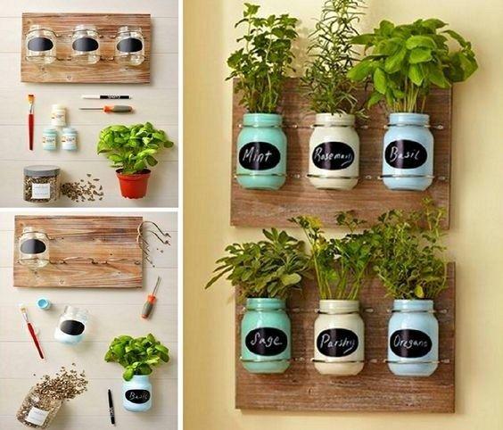 20 Amazing Diy Garden Pot Ideas On Low Budget Mason Jar Herb