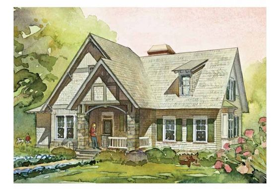 6 bedroom plan, small footprint - needs a garage houses / home