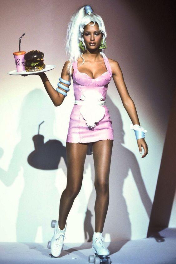 "femmequeens: ""Brandi Quiñones @ Thierry Mugler Spring/Summer 1994 """