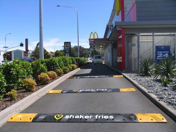 McDonald's shaker fries: Speed bump