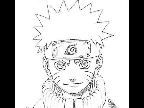 How To Draw Naruto طريقة رسم ناروتو Naruto Drawings Drawings Naruto