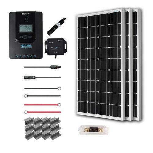 Renogy 200 Watt 12 Volt Off Grid Solar Premium Kit With Monocrystalline Solar Panel And 20a Mppt Rover Controller Walmart Com 12v Solar Panel Solar Panels Off Grid Solar