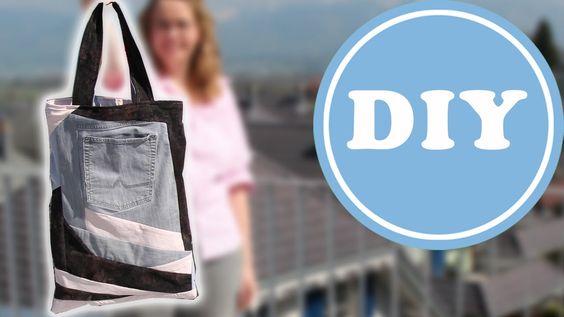 Upcycling Patchwork Jeanstasche  | DIY | aus alten Jeans