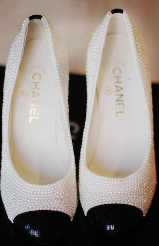 How hard would it be to DIY a copy cat version of these Chanel pearl & sequin heels??