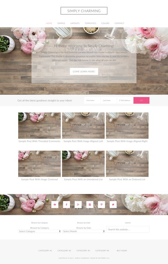 Simply Charming by Pink & Press