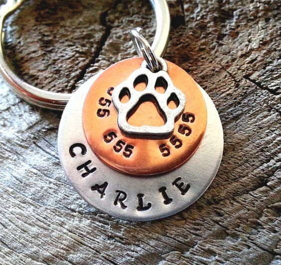 Pet ID Tag / Personalized Pet ID Tag / Dog Tag  door FurryFriendsID, $12.00 for  my hime!!