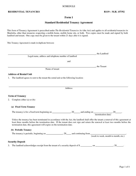 Free Printable Residential Lease Agreement  Free Printable Lease