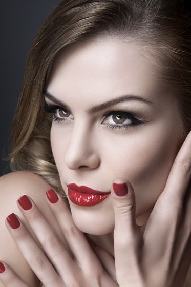red nails and red lips #makeup #red #nails #lips