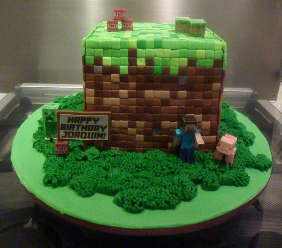 minecraft cake food pinterest kuchen bruder und minecraft. Black Bedroom Furniture Sets. Home Design Ideas