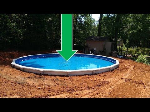 Inexpensive Above Ground Pool Landscaping Ideas dropping an above ground pool in the ground (the details)   home