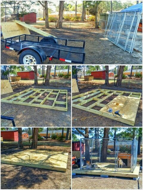 Diy Dog Kennel Floor, Outdoor Kennel Flooring Ideas
