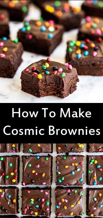 How To Make Cosmic Brownies Chocolate Desserts Cake Chocolate Dessert Recipes Chocolate Cake Recipe Easy