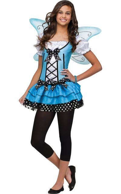 Teen Girls Blue Belle Fairy Costume-Party City