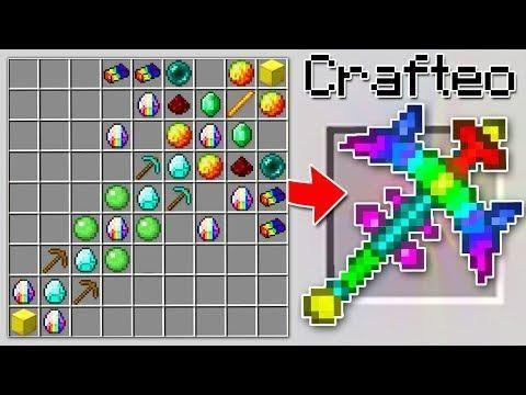 Como Craftear El Pico Arcoiris De 100 000 En Minecraft Es Super Poderoso Minecraft Crafts Minecraft Creations Minecraft Toys