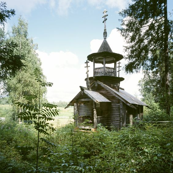 Russian wooden church ...  I think that prayers are better heard here.