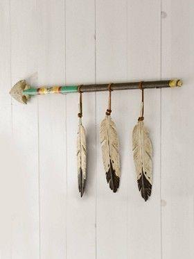 Hanging Feather Spear #nursery #decor