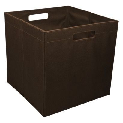 Shelves storage bins and canvases on pinterest for Fabric drawers ikea expedit