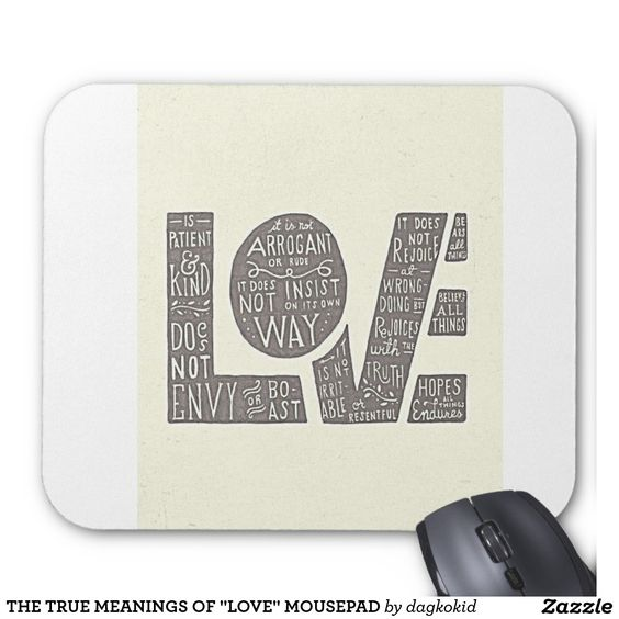 "THE TRUE MEANINGS OF ""LOVE"" MOUSEPAD"