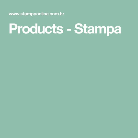 Products - Stampa