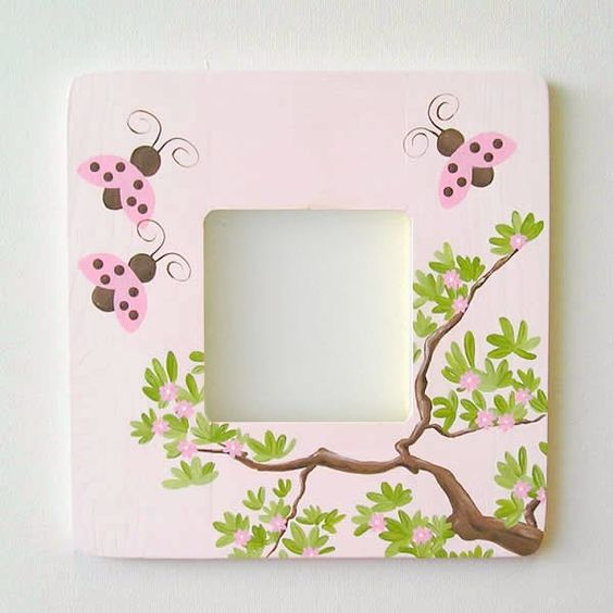 Love Bug Ladybug Pink & Brown Frame: