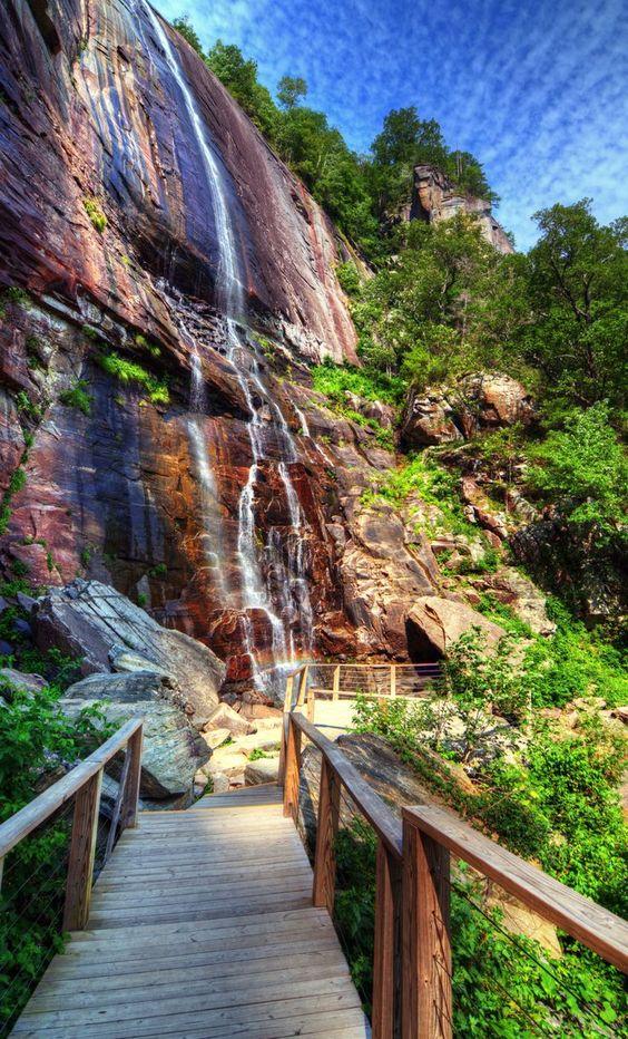 Travel America The American Experience| Serafini Amelia| See amazing views at Chimney Rock Park in North Carolina.