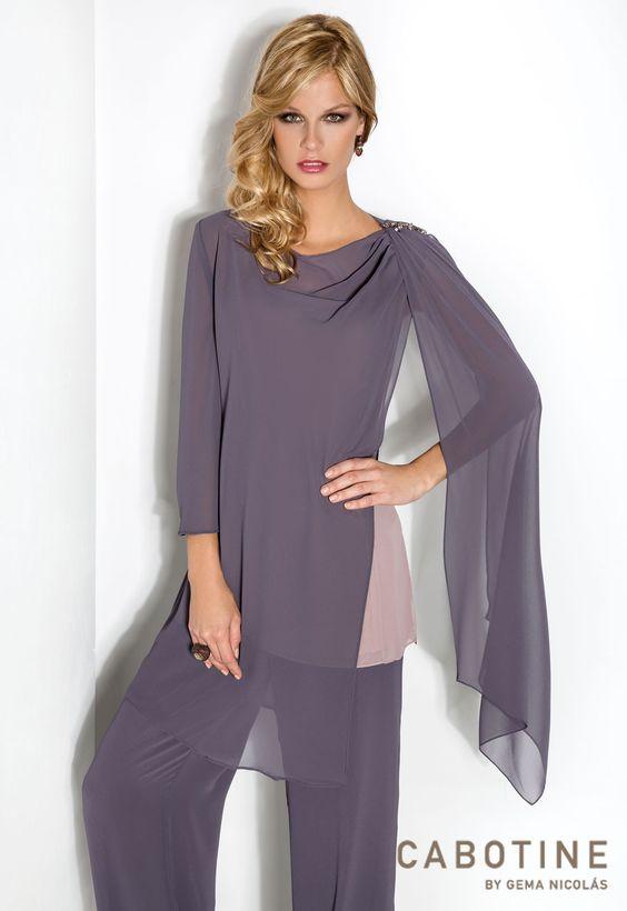 Bella 6220 conjunto de pantal n y blusa en chiffon for Apliques de pared el corte ingles