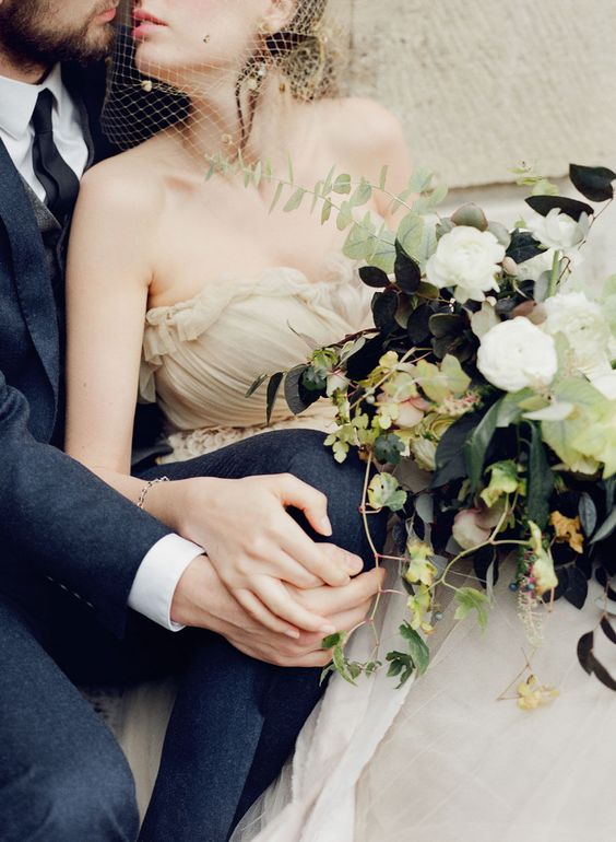 Paris Elopement Wedding Photography Fine Art Film Photography Taylor & Porter Samuelle Couture Tinge Floral Bride Groom Autumn
