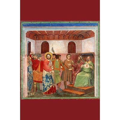 Buyenlarge 'Christ and Caiphus' by Giotto Painting Print Size: