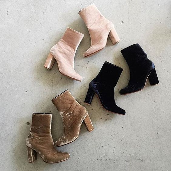 Take your pick | Our silk velvet boots exclusively online at ilovelya.com #ilovelilya