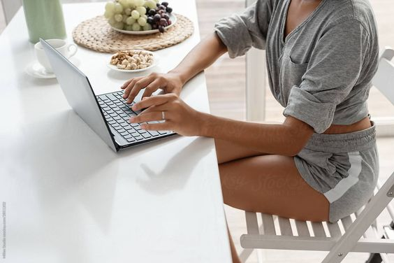 Laptop at home