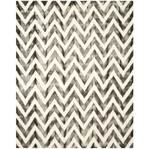 Safavieh Dip Dye Ivory Charcoal 2 Ft X 10 Ft Runner Rug Ddy715d 210 Chevron Area Rugs Area Rugs Rugs