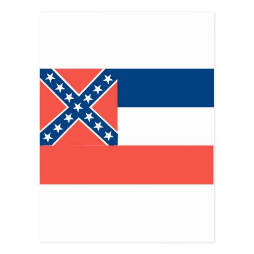 Mississippi Official State Flag Postcard State Flags Postcard Ms Flag