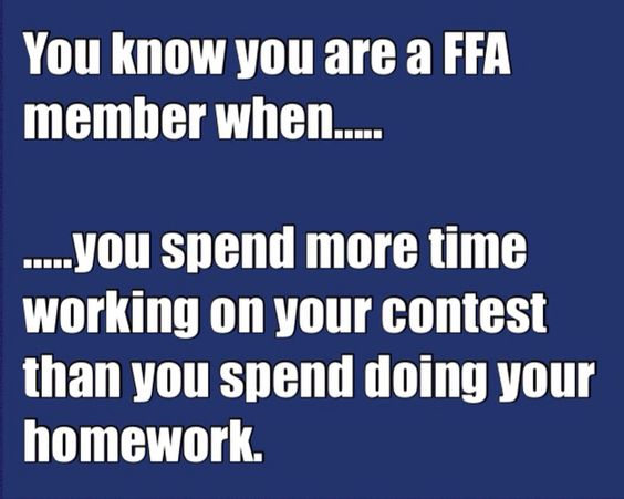 The FFA life! YAS just went though this.