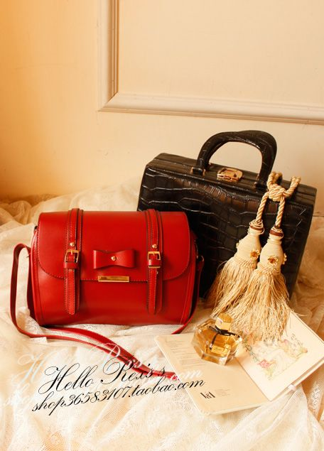 Rex IT interlaced double bag gold heiress Alice customized vertical cutting texture of leather bags