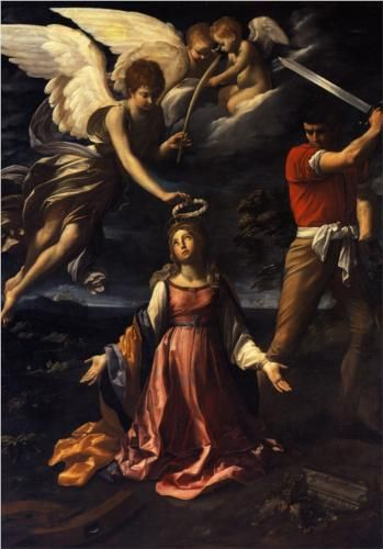 Artist: Guido Reni  Completion Date: 1607  Style: Baroque  Genre: religious painting  Technique: oil  Material: canvas  Dimensions: 277 x 195 cm