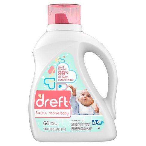 Dreft Stage 2 Active Baby Liquid Laundry Detergent 100 Fl Oz