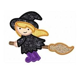 Little Witch Applique - 3 Sizes! | What's New | Machine Embroidery Designs | SWAKembroidery.com Fun Stitch