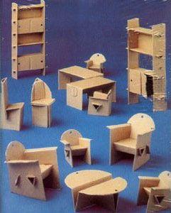 To Make Cardboard Dollhouse Furniture | cardboard_furniture.jpg:
